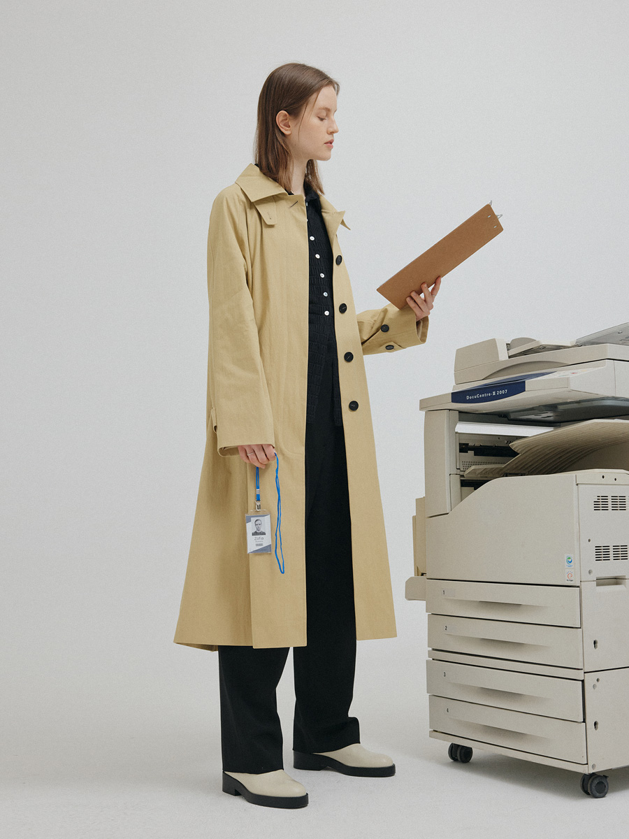 BEIGE LES TRENCH COAT